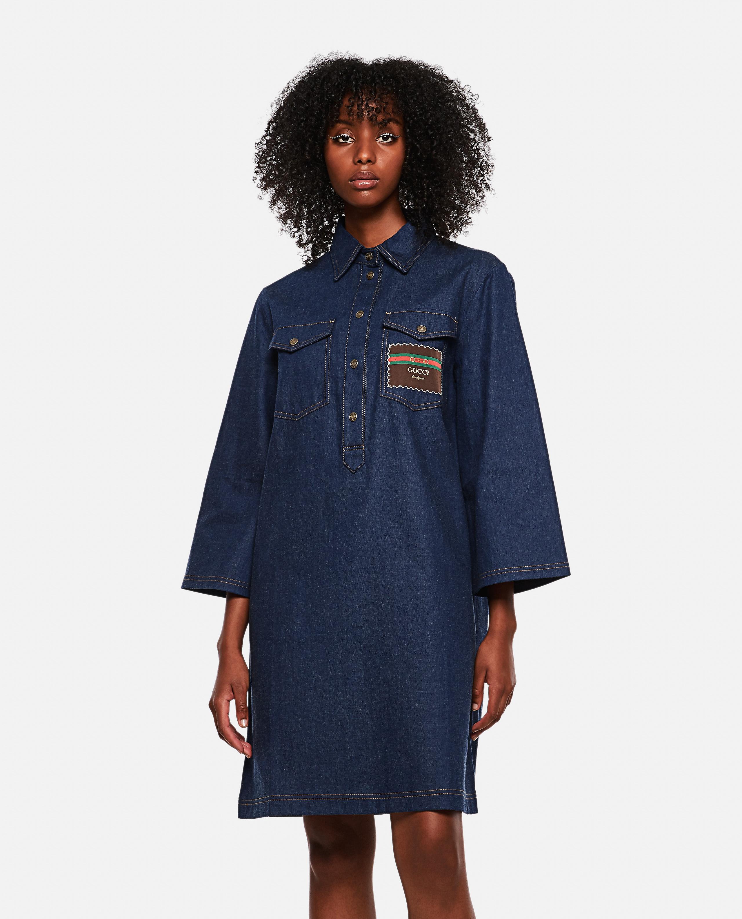 Short denim dress with Gucci Boutique
