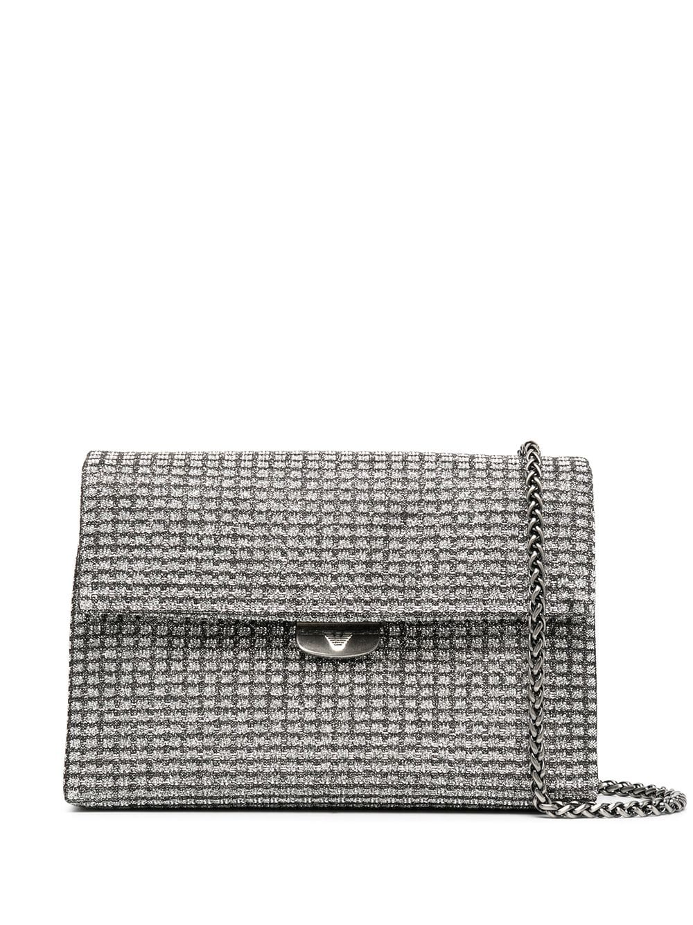 Glittered Chained Clutch
