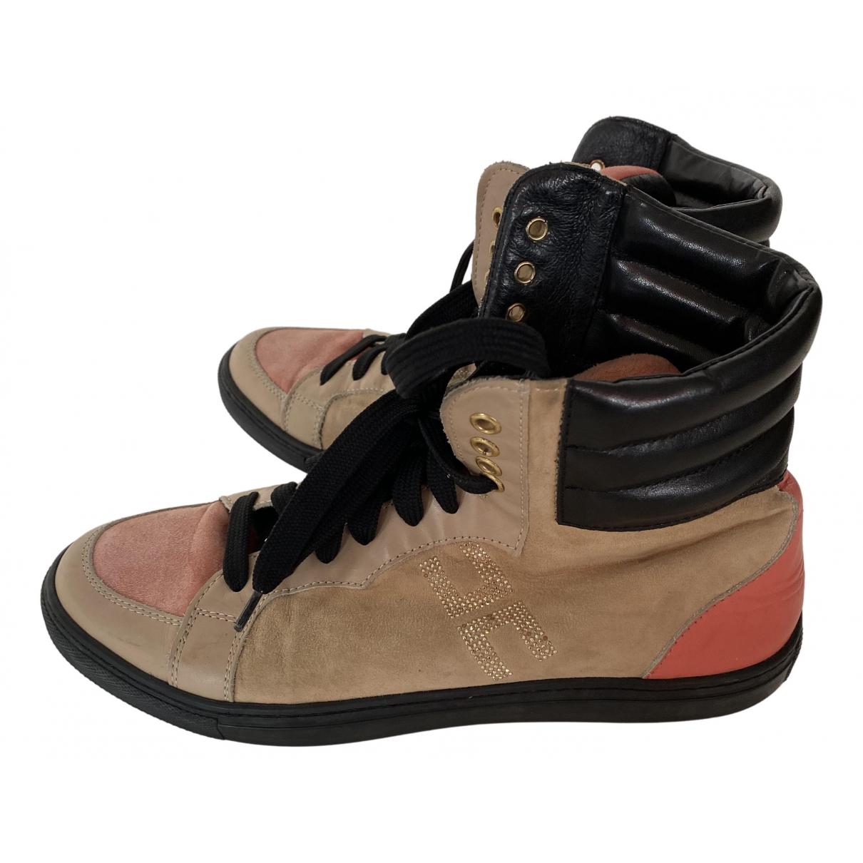 Elisabetta Franchi \N Sneakers in  Bunt Leder