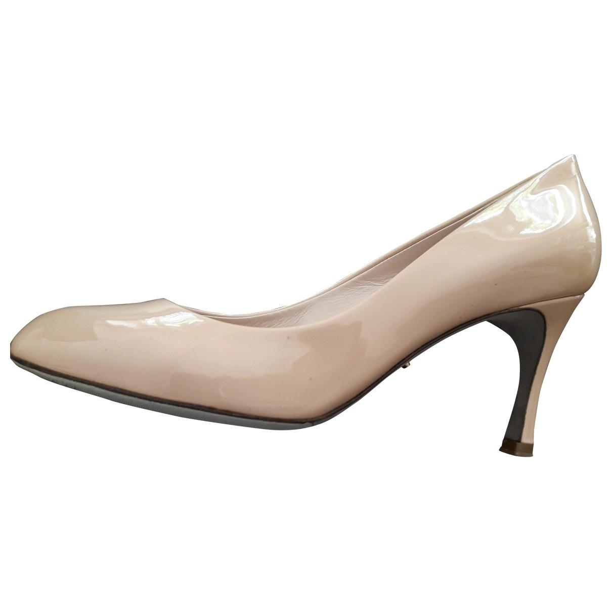 Sergio Rossi \N Beige Patent leather Heels for Women 36 EU