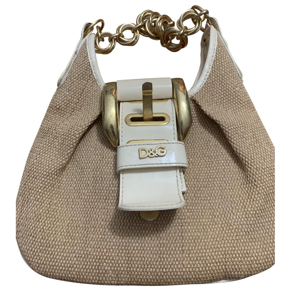 D&g \N Handtasche in  Gold Stroh