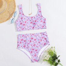 Bikini Badeanzug mit Schmetterling Muster