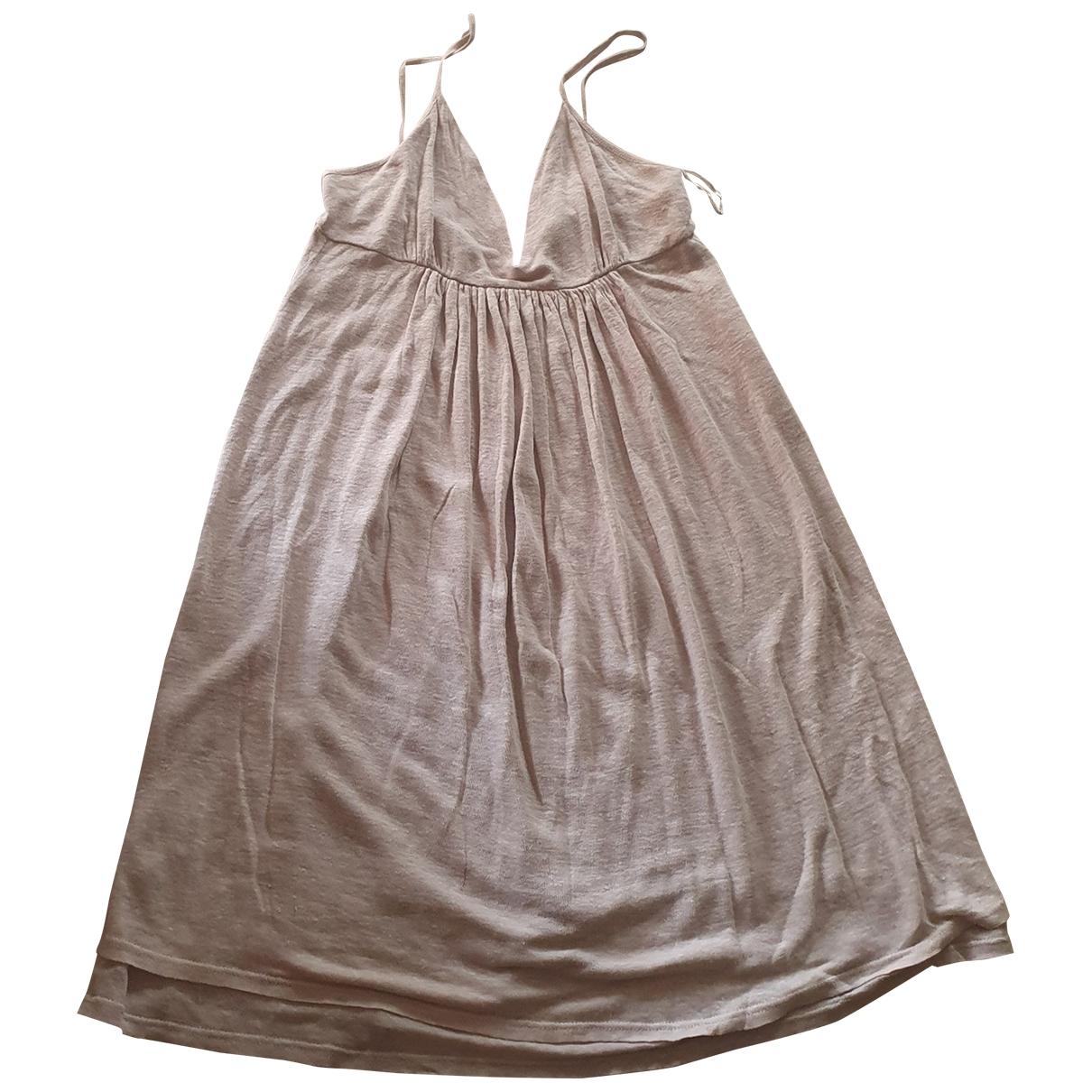 Max & Co - Robe   pour femme en lin - beige