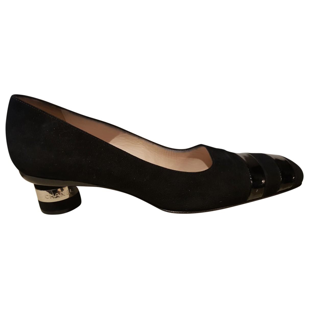 Chanel N Black Suede Heels for Women 39 EU