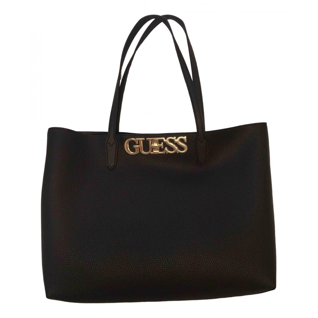 Guess \N Black Leather handbag for Women \N