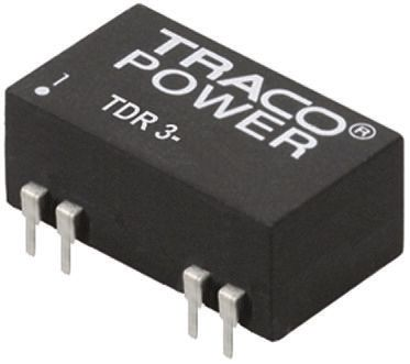 TRACOPOWER TDR 3 3W Isolated DC-DC Converter Through Hole, Voltage in 9 → 18 V dc, Voltage out ±12V dc