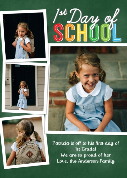 Back to School 5x7 Cards, Premium Cardstock 120lb, Card & Stationery -Back to School Colorful School