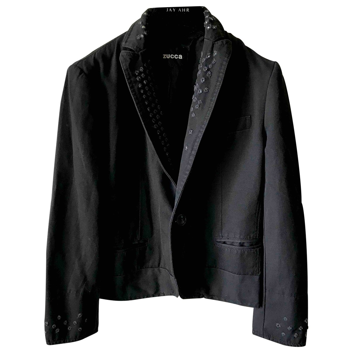 Non Signé / Unsigned \N Black Wool jacket for Women M International