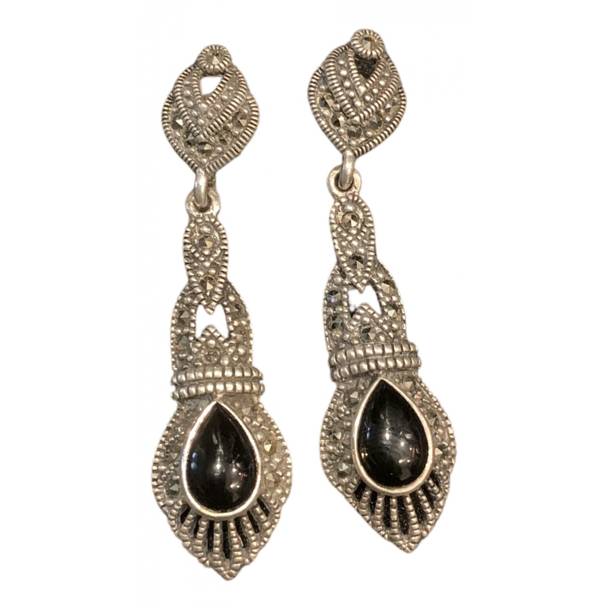 Non Signé / Unsigned N Silver Silver Earrings for Women N