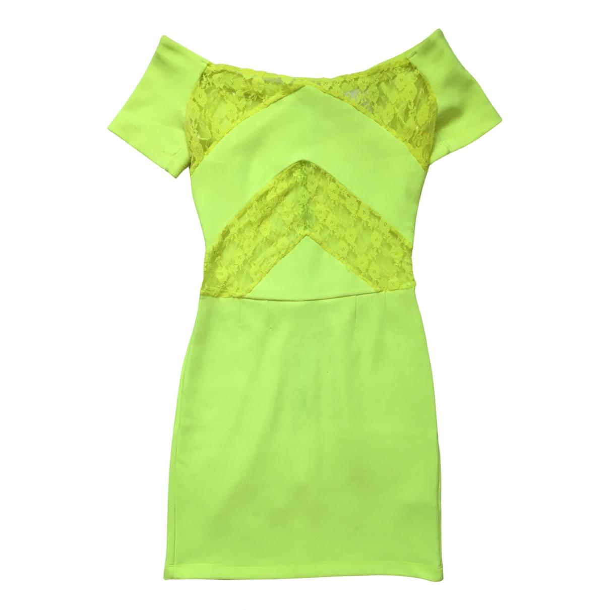 Christopher Kane For Tophop \N Kleid in  Gelb Polyester