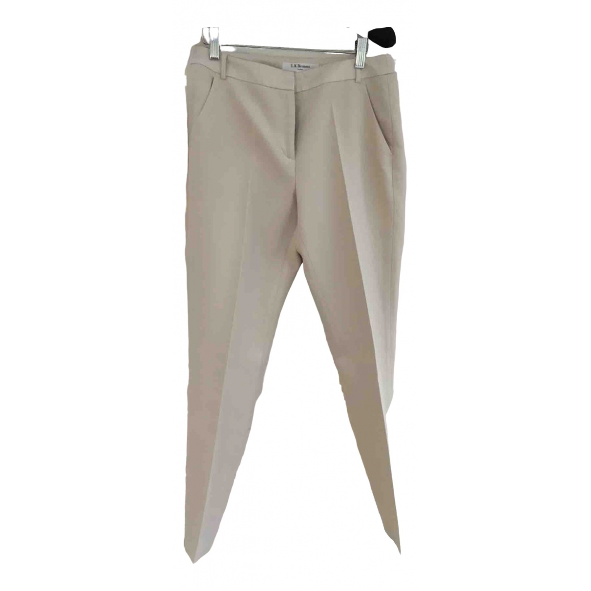 Lk Bennett N Ecru Trousers for Women 10 UK