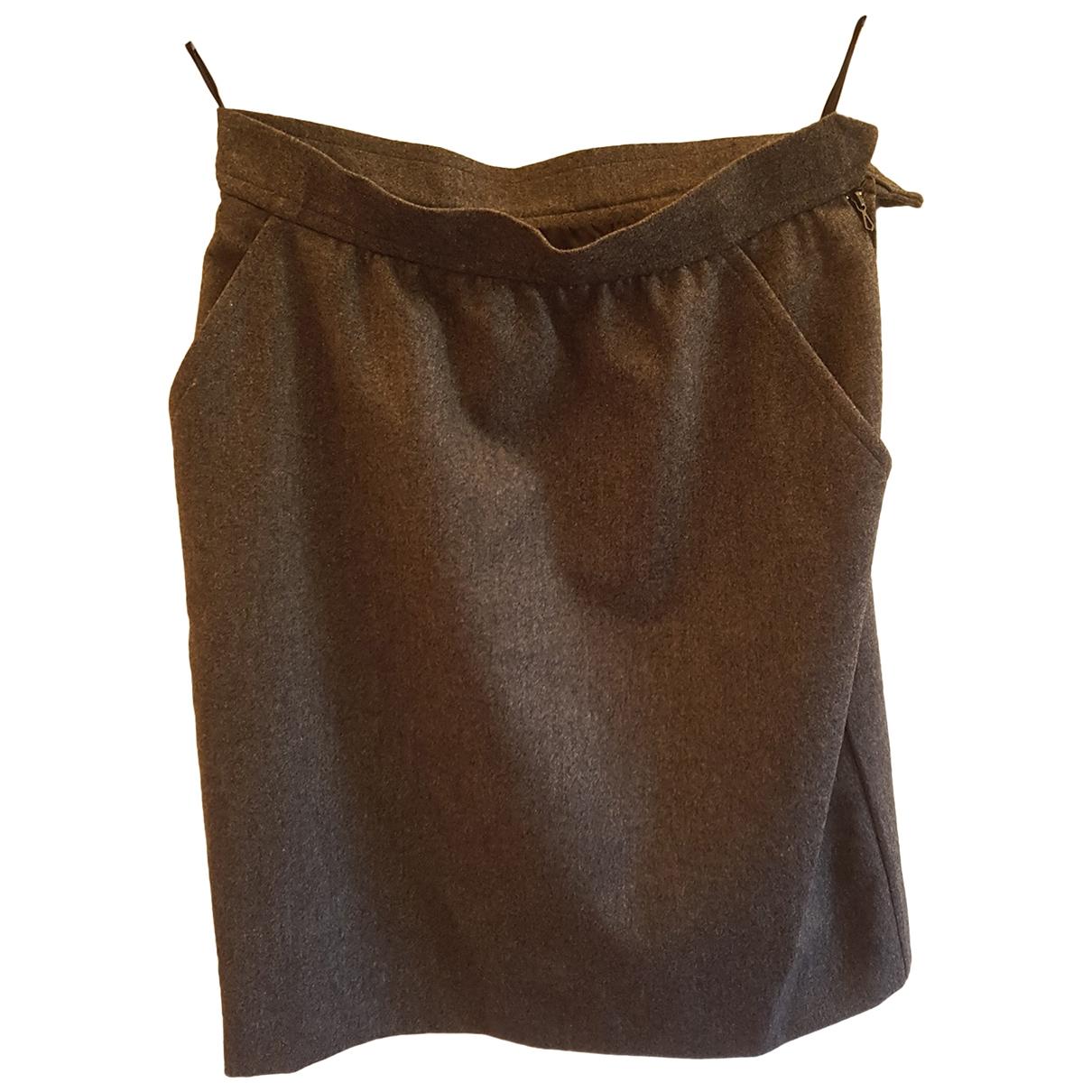 Yves Saint Laurent \N Grey Cashmere skirt for Women 40 FR