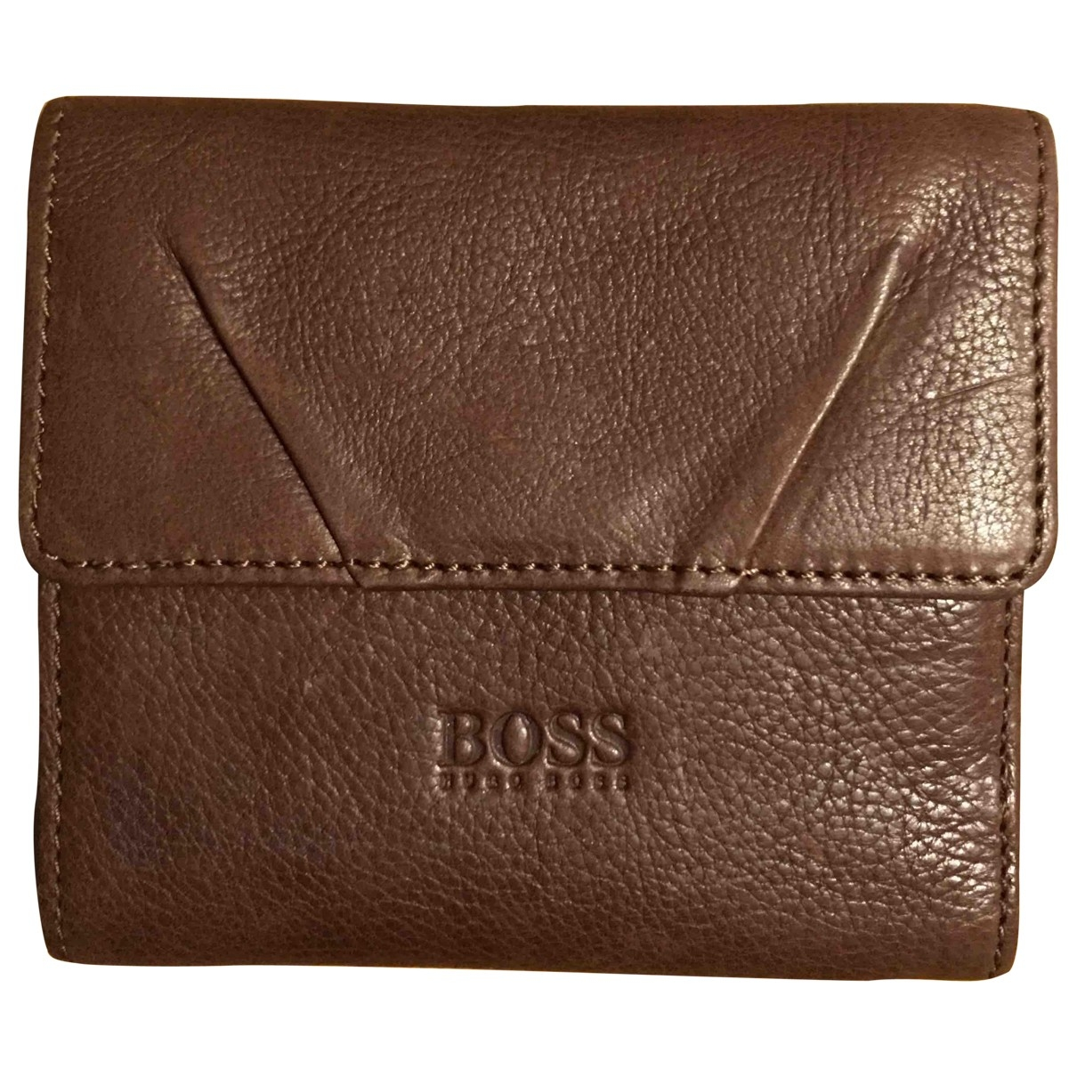 Boss \N Brown Leather Purses, wallet & cases for Women \N