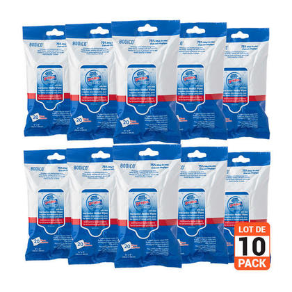 Hand Sanitizer Alcohol Wipes with Aloe 20Pcs/Pack, 10 pack