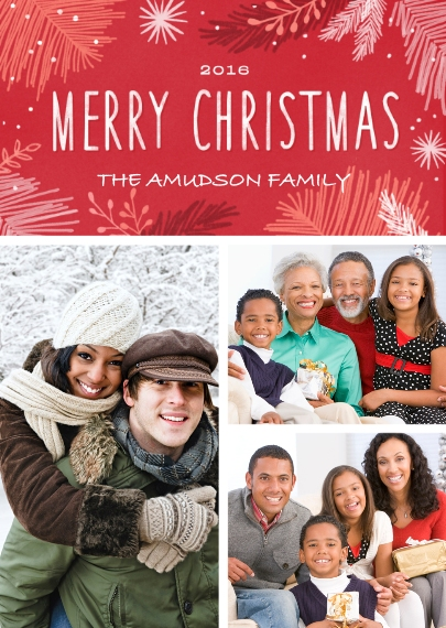 Christmas Photo Cards 5x7 Folded Cards, Premium Cardstock 120lb, Card & Stationery -Bundles Of Merry