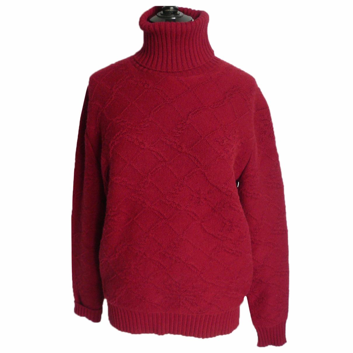 Chanel - Pull   pour femme en cachemire - rouge