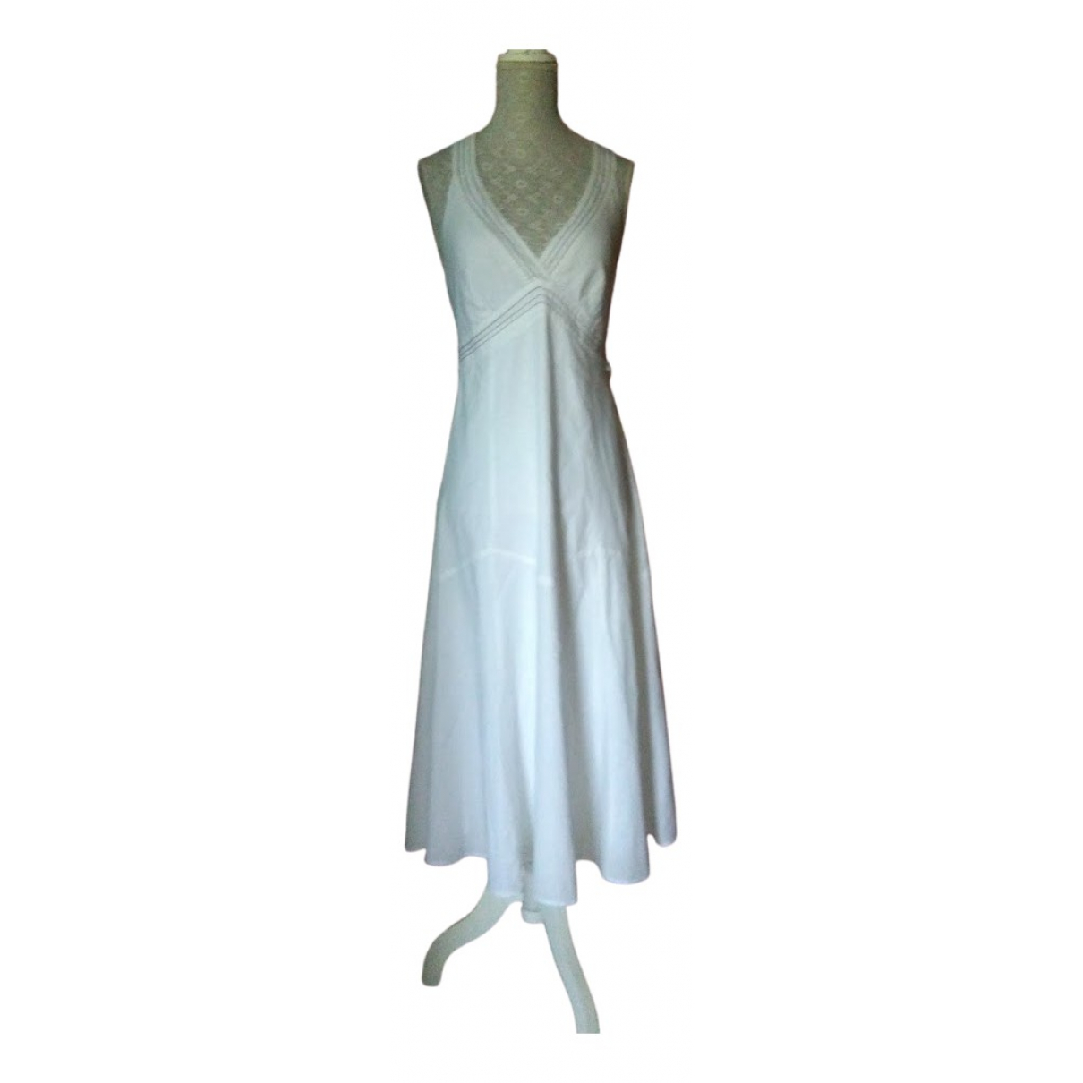Zara \N White Cotton dress for Women 44 IT