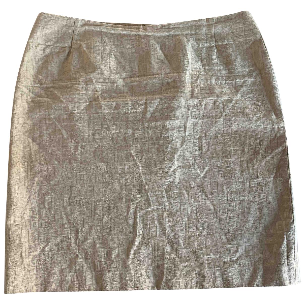 Versace - Jupe   pour femme en coton - ecru