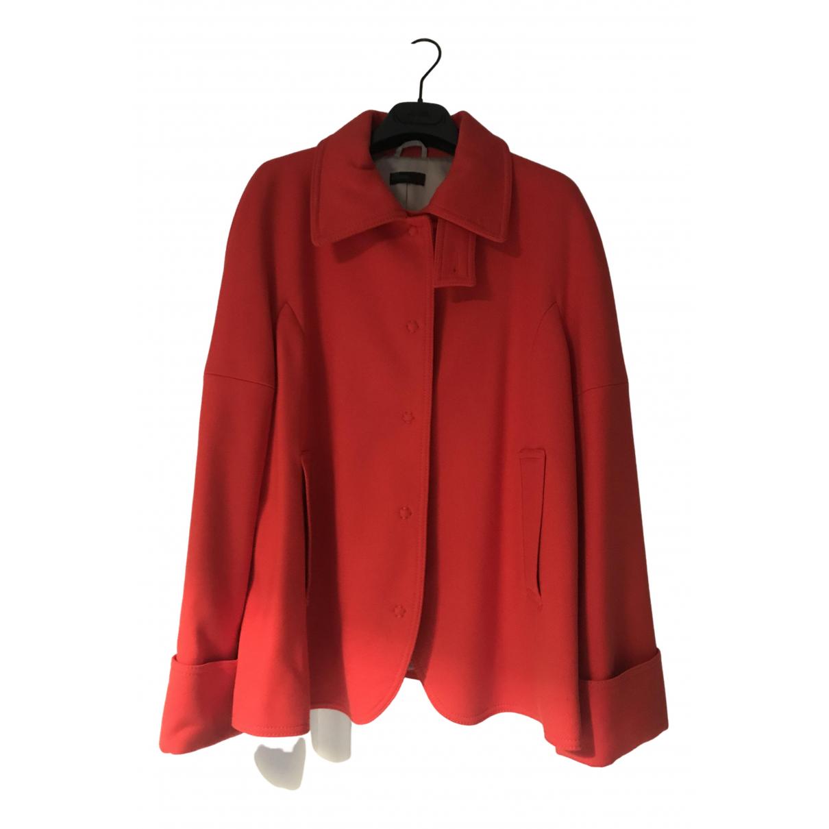 Benetton - Manteau   pour femme - orange