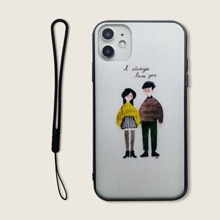 Figure Graphic iPhone Case With Lanyard