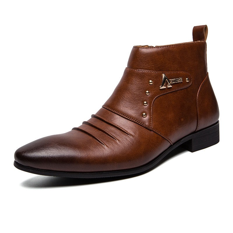 Ericdress Color Block High-Cut Upper PU Men's Boots