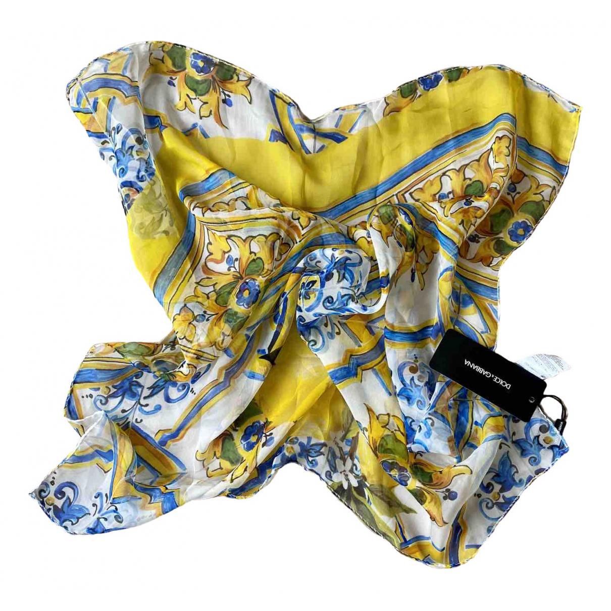 Dolce & Gabbana \N Yellow Silk scarf for Women \N