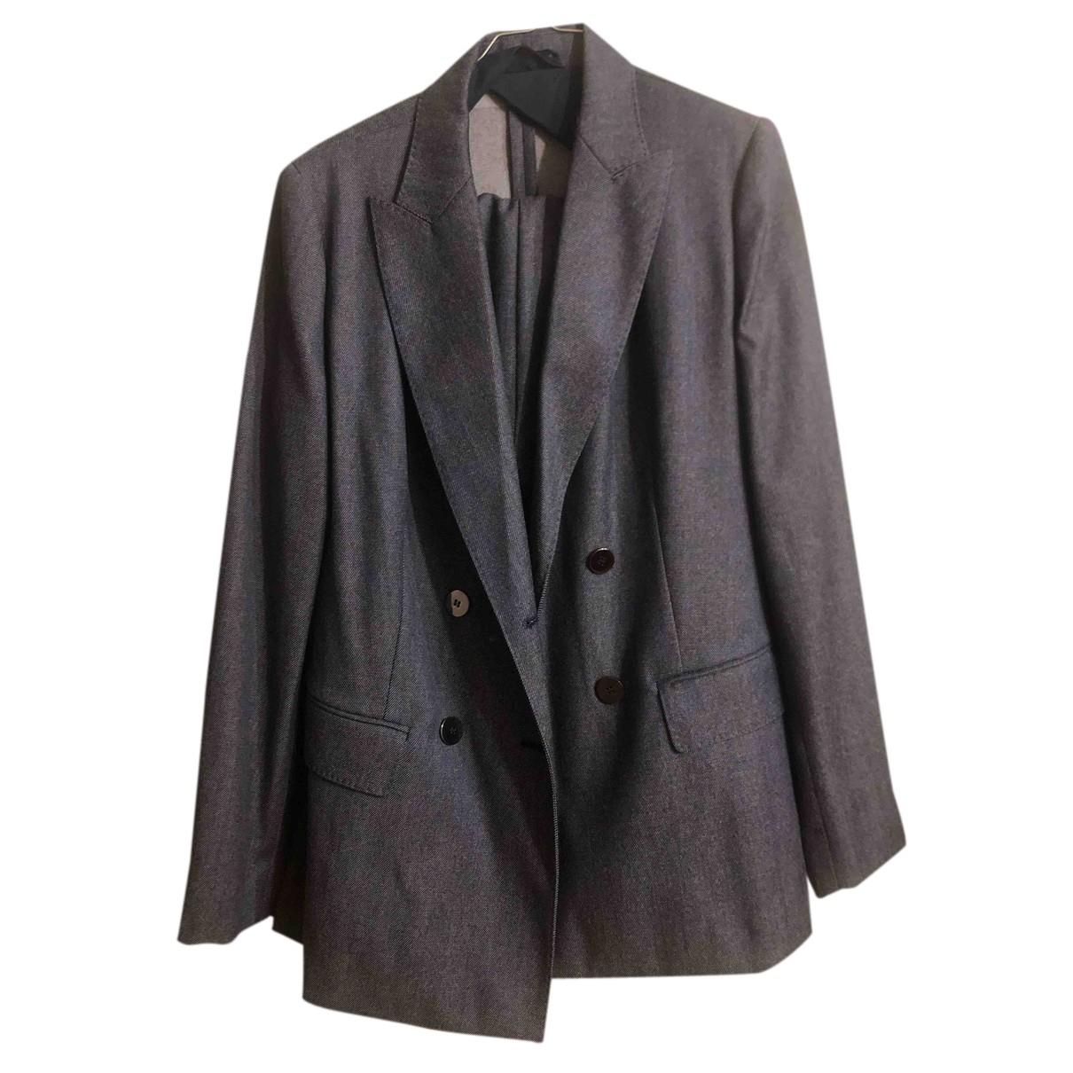Max Mara N Grey Wool jacket for Women 48 IT