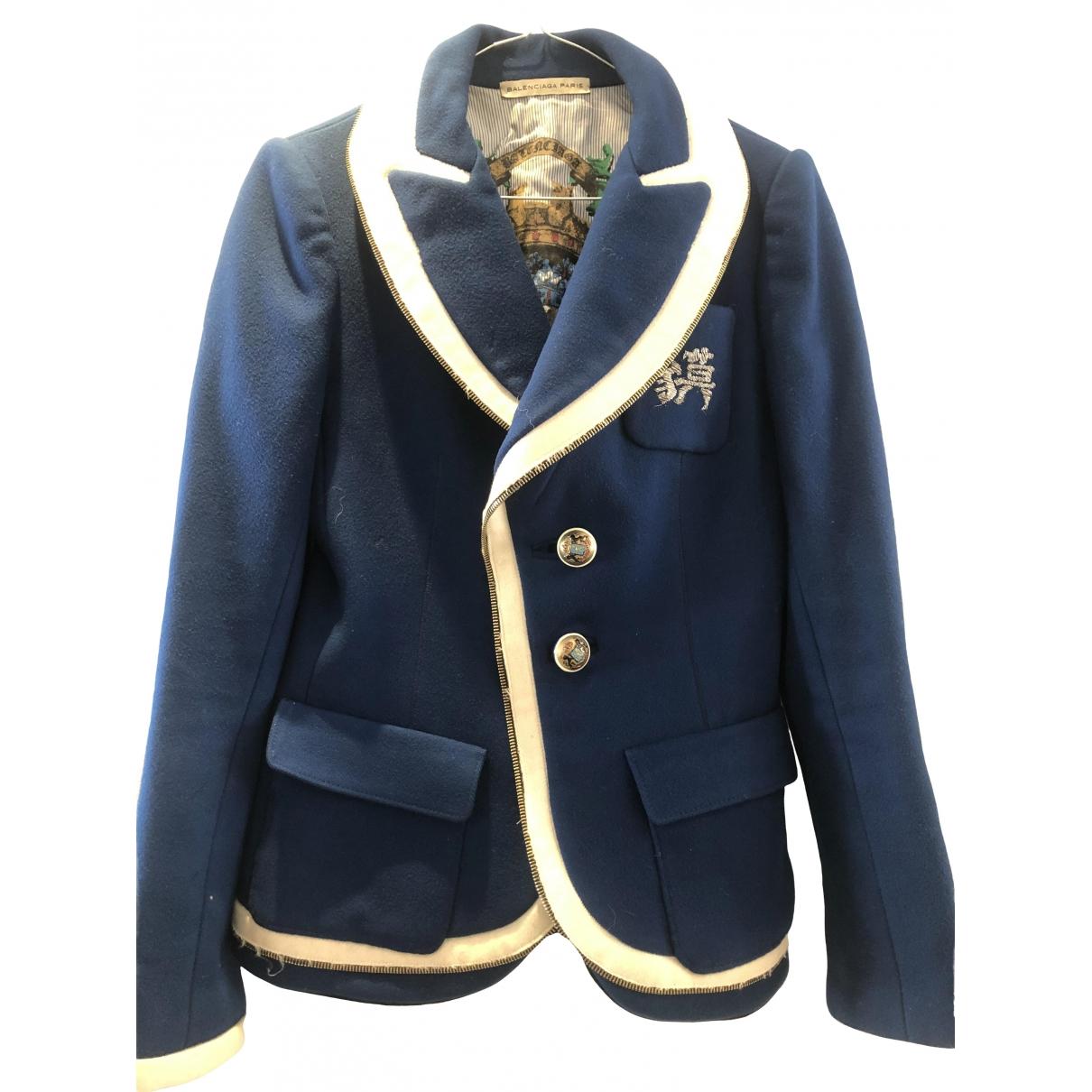 Balenciaga \N Blue Wool jacket for Women 42 FR