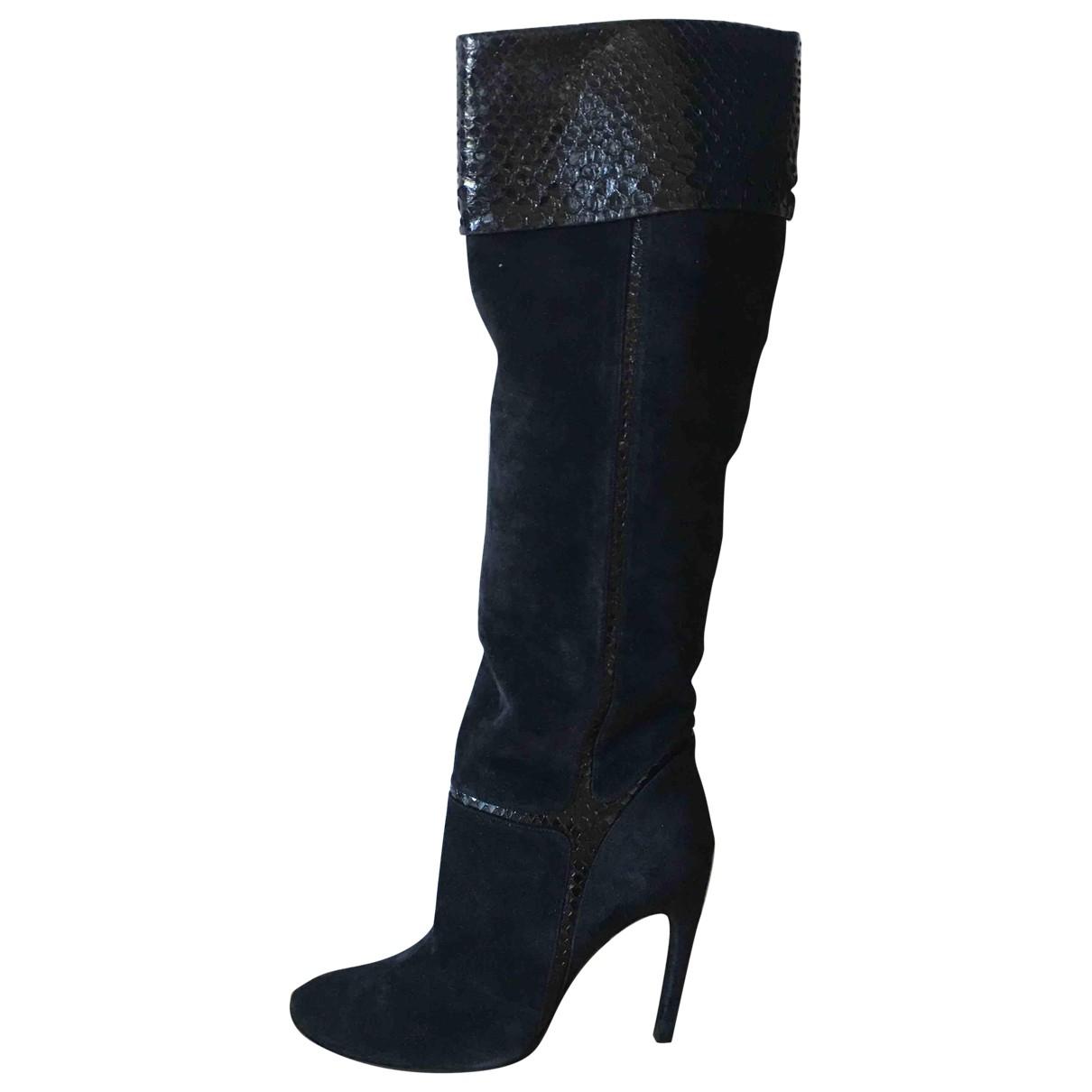 Roger Vivier \N Black Python Boots for Women 39 EU