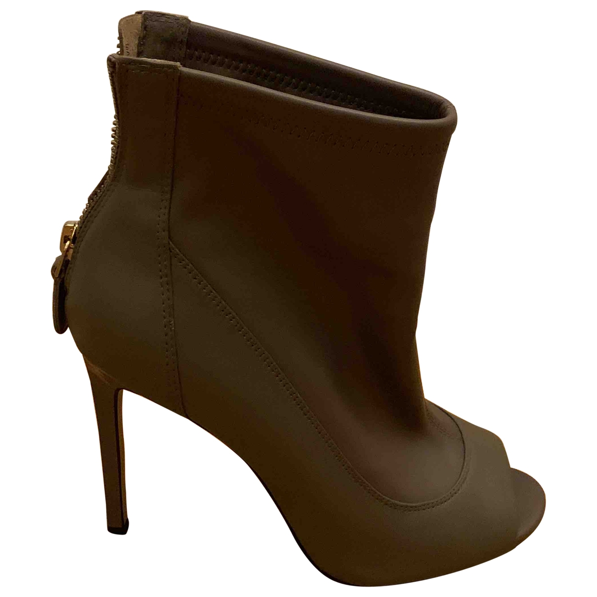 River Island - Boots   pour femme en cuir - kaki