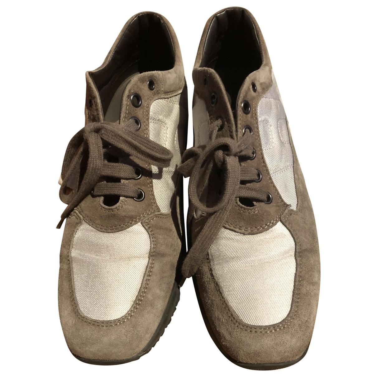 Hogan \N Grey Cloth Trainers for Women 37 EU
