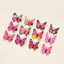 12 Stuecke Maedchen Haarklammer mit Schmetterling Dekor