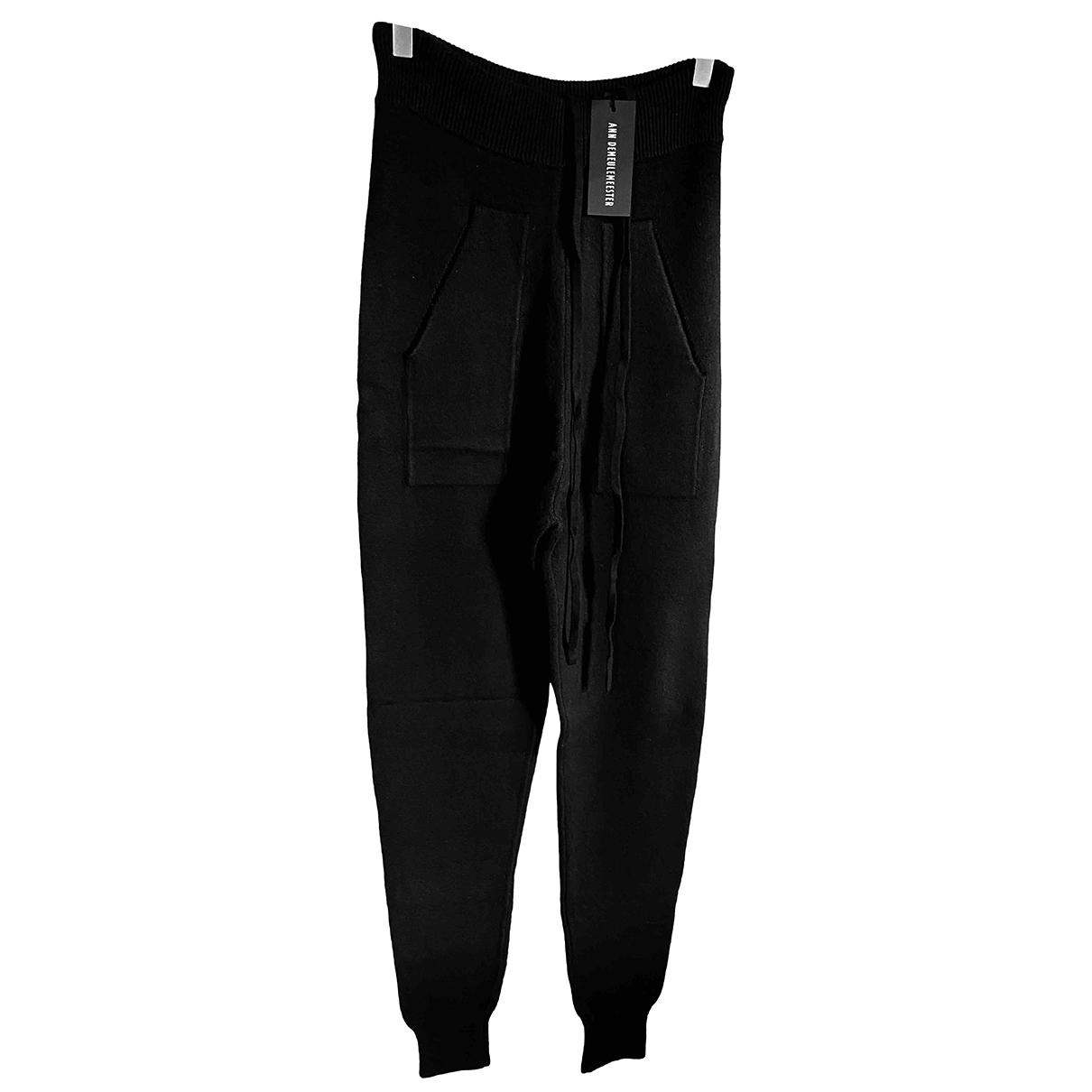 Ann Demeulemeester N Black Cashmere Trousers for Men M International