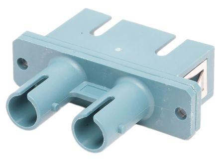RS PRO ST to SC Single Mode Duplex Fibre Optic Adapter, 0.1dB Insertion Loss