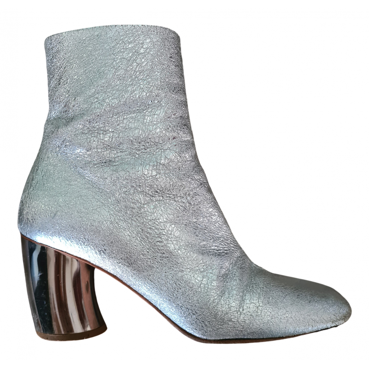 Proenza Schouler N Silver Leather Ankle boots for Women 40 EU