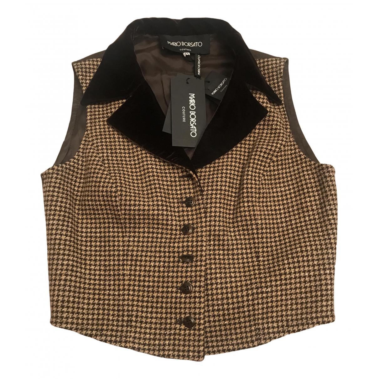 - Pull   pour femme en laine - marron