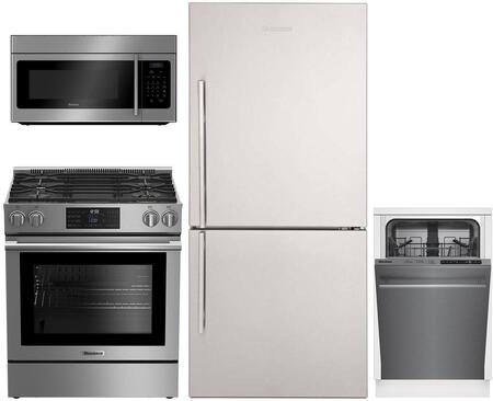 4 Piece Kitchen Appliances Package with BRFB1812SSN 30