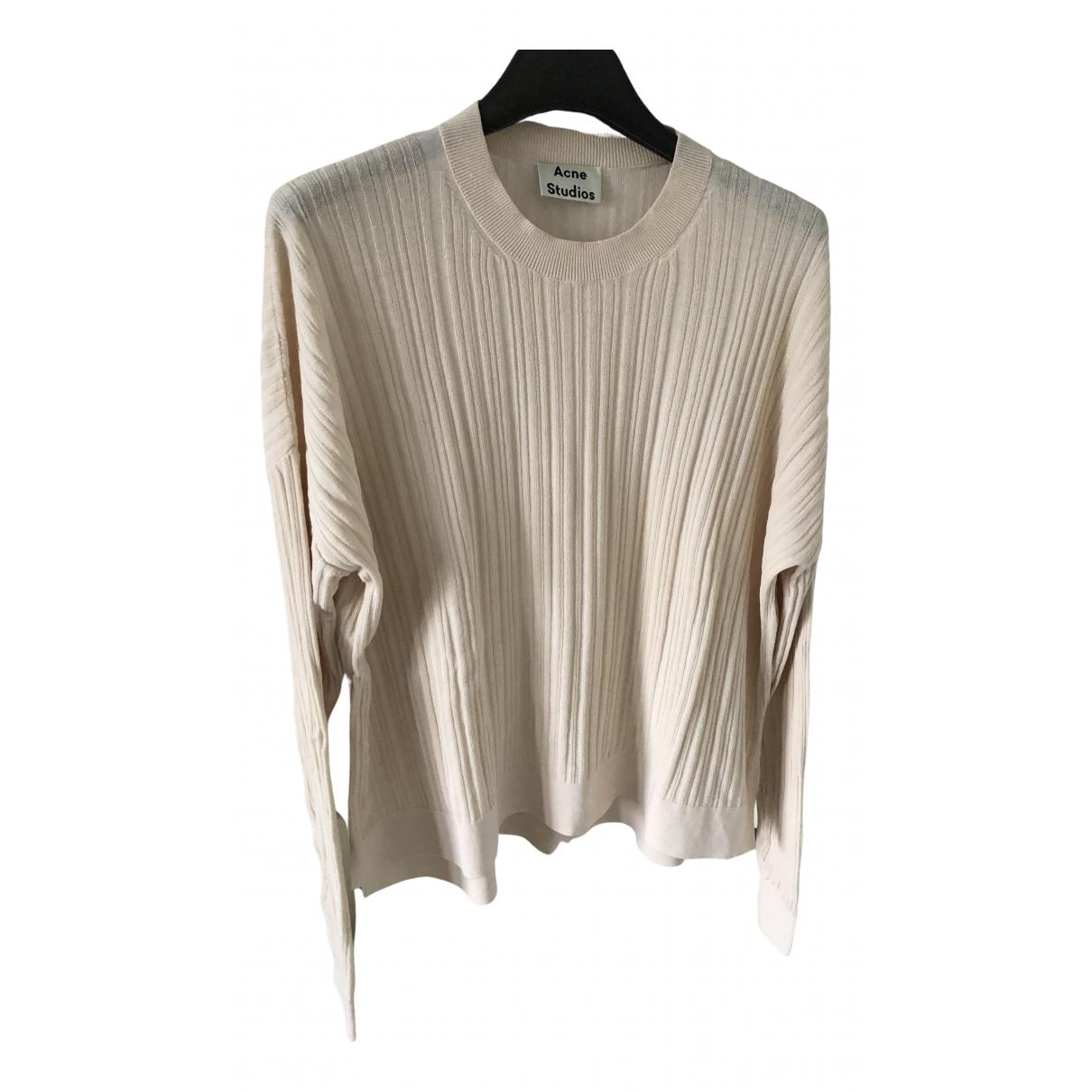Acne Studios - Top   pour femme en coton - beige