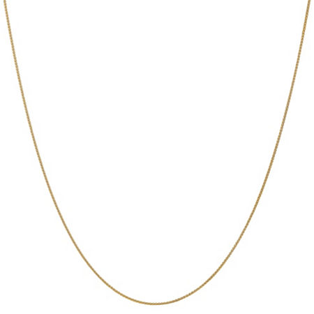 14K Gold 18 Inch Solid Wheat Chain Necklace, One Size , No Color Family