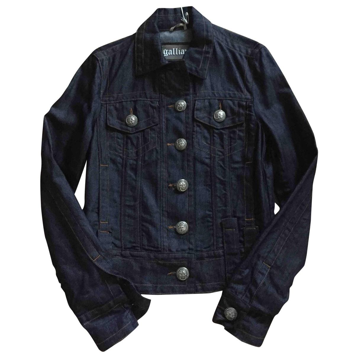 Galliano \N Blue Denim - Jeans jacket for Women 38 FR