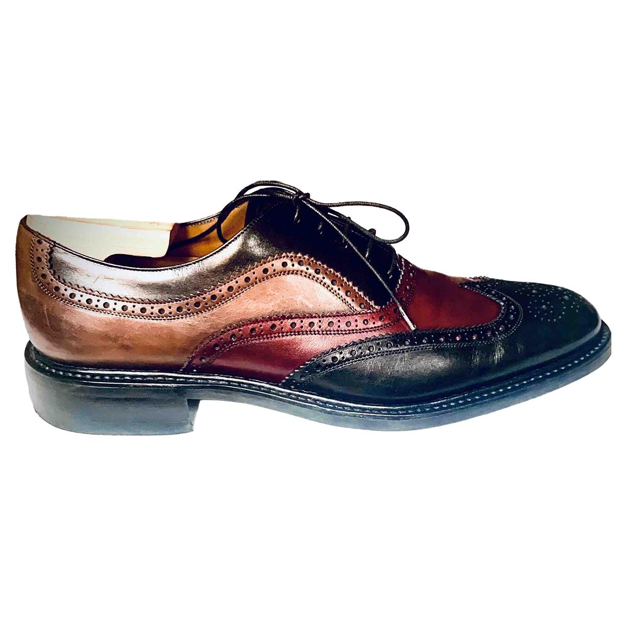 Salvatore Ferragamo \N Multicolour Leather Lace ups for Men 10 UK