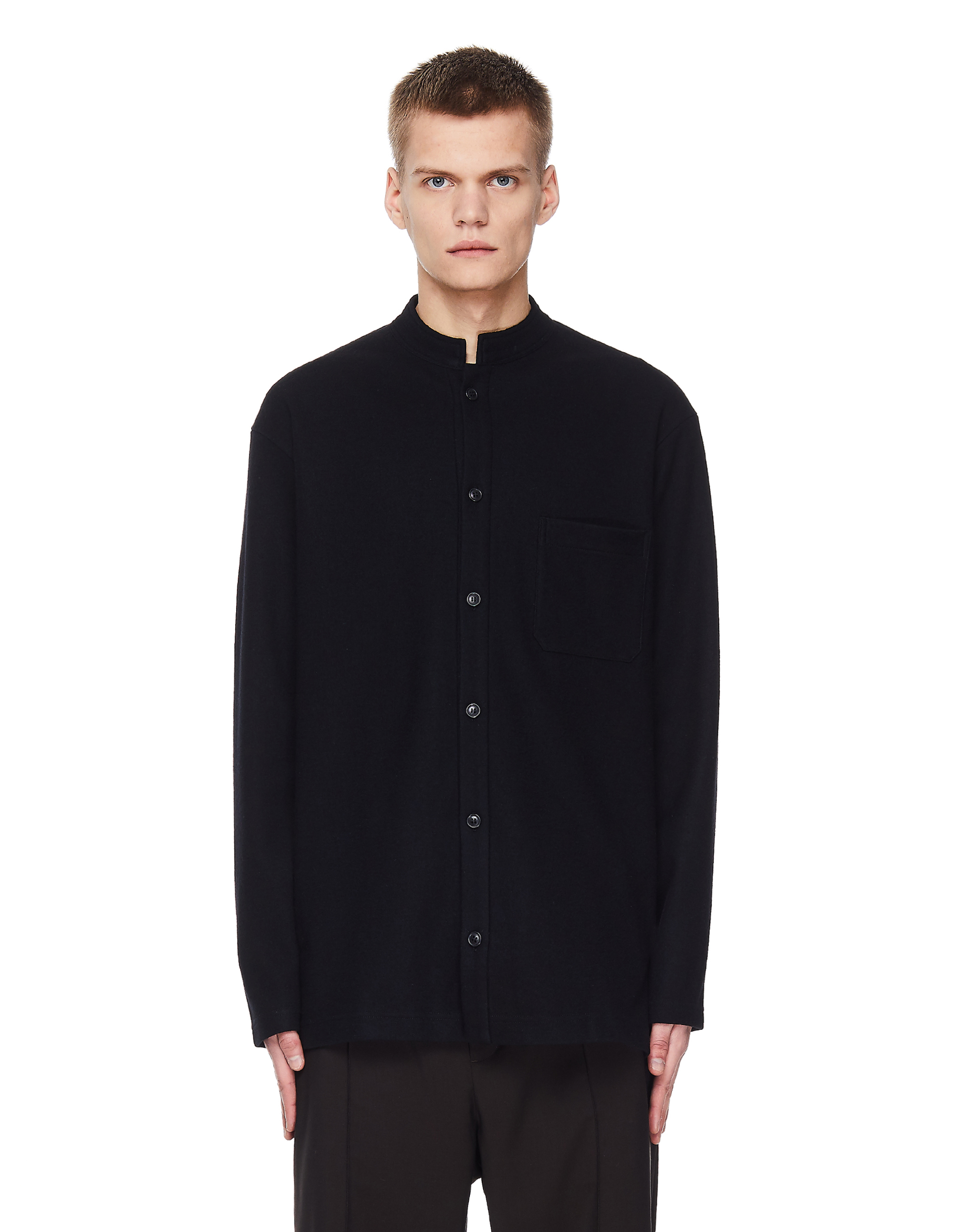 Yohji Yamamoto Black Wool Shirt