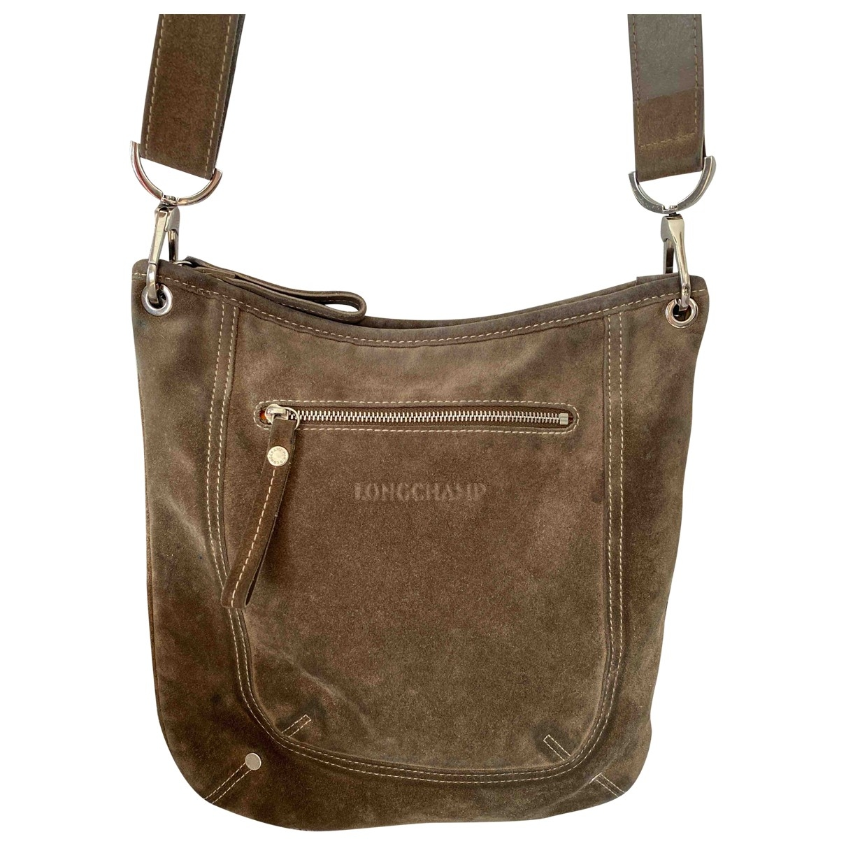 Longchamp \N Khaki Leather handbag for Women \N