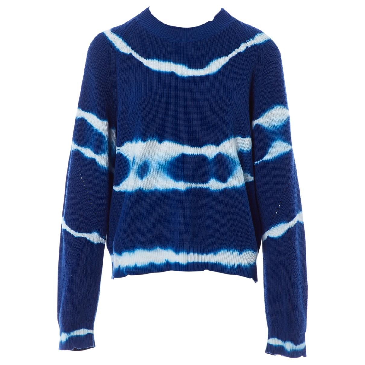 Msgm - Pull   pour femme en coton - bleu