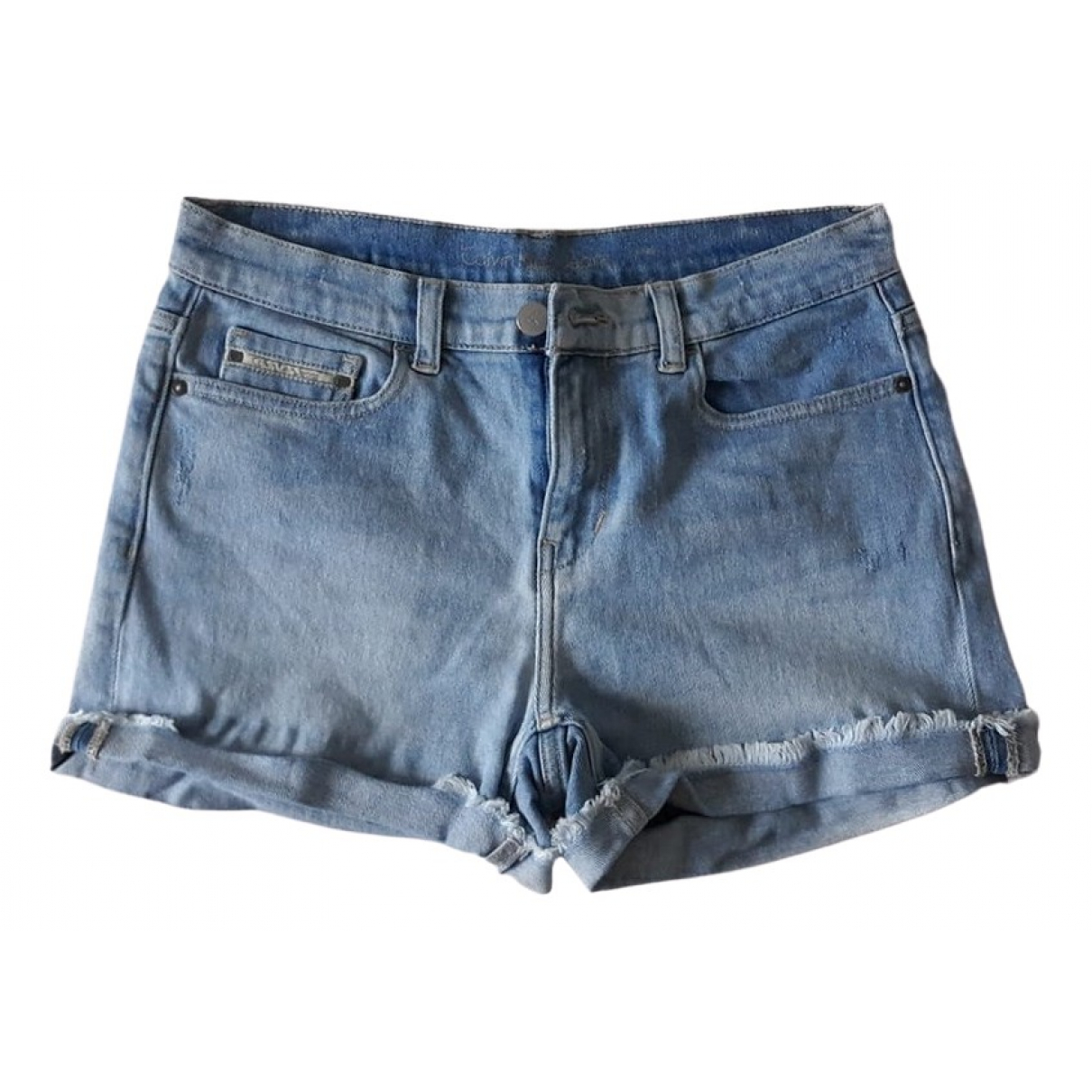 Calvin Klein - Short   pour femme en denim - bleu