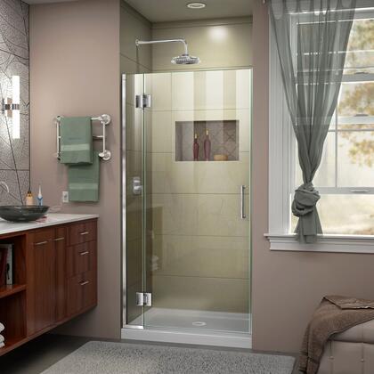 D13072-01 Unidoor-X 36 W X 72 H Frameless Hinged Shower Door In