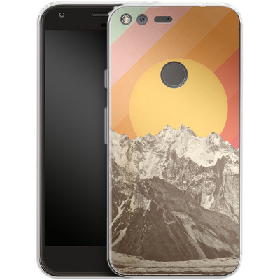Google Pixel Silikon Handyhuelle - Mountainscape von Florent Bodart