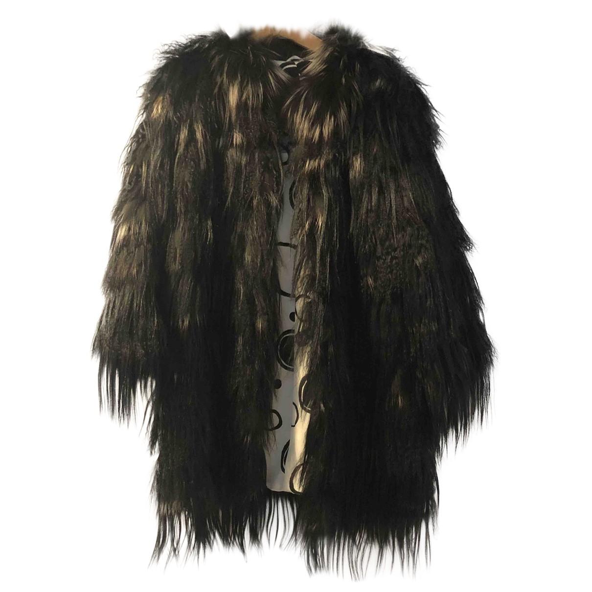 Simonetta Ravizza \N Black Fox jacket for Women 40 IT