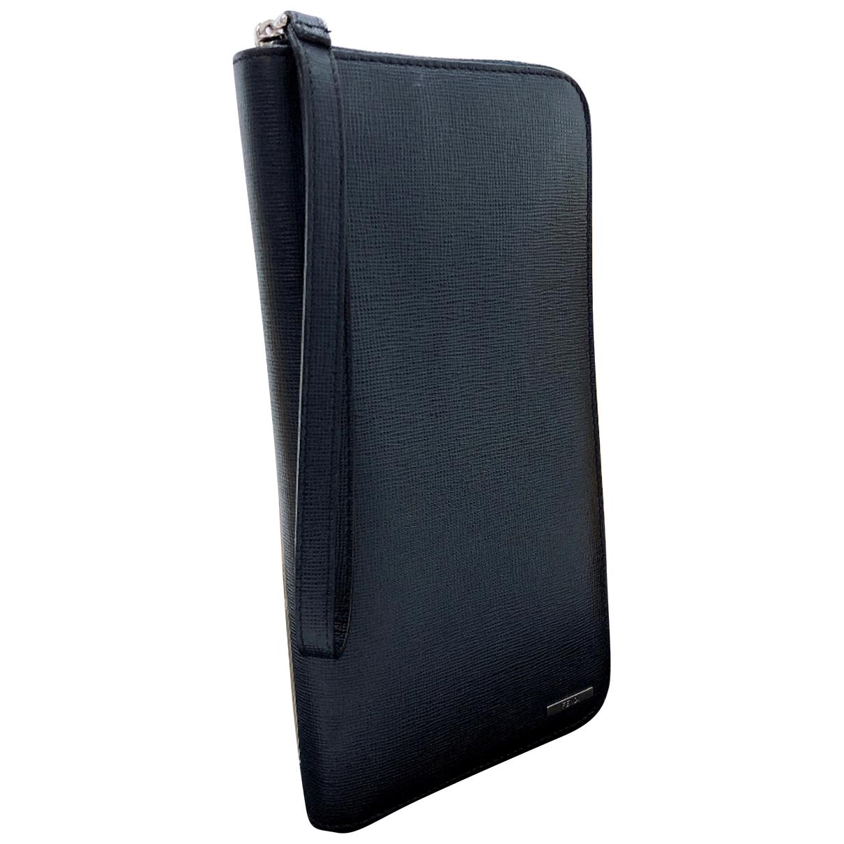 Fendi N Navy Leather Small bag, wallet & cases for Men N