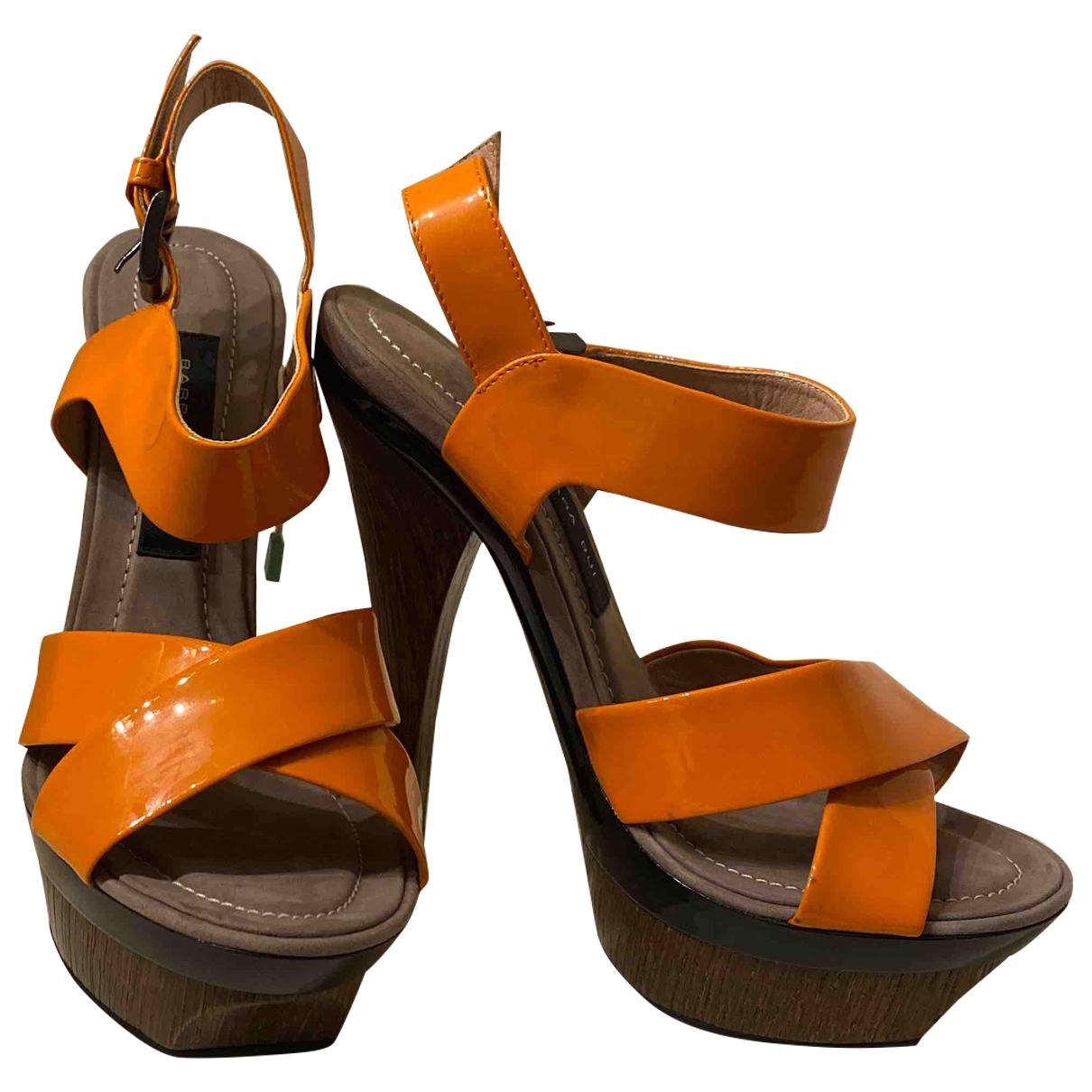 Barbara Bui \N Orange Patent leather Sandals for Women 35 EU